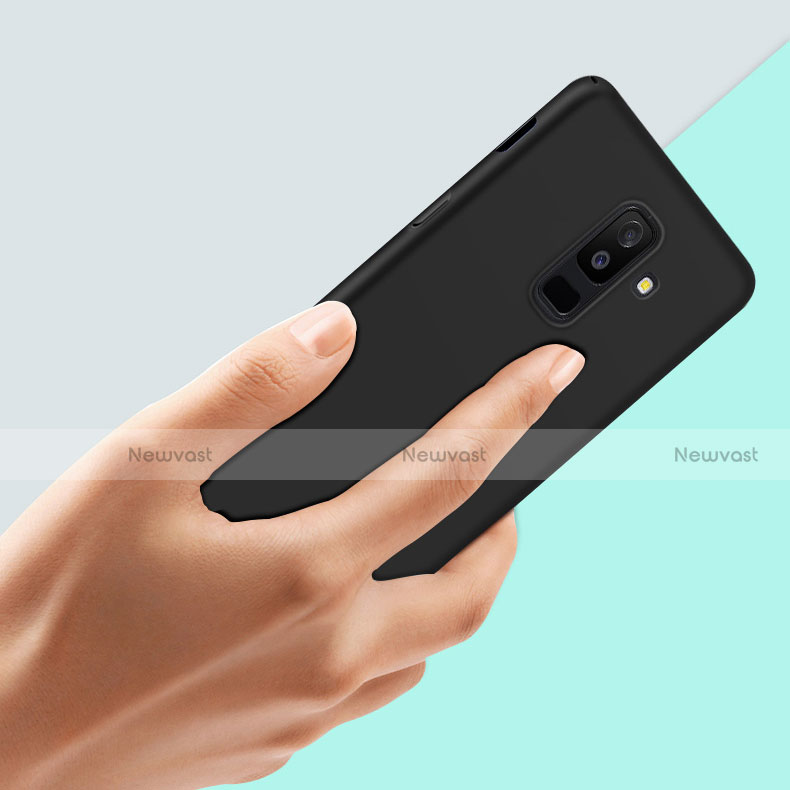 Hard Rigid Plastic Matte Finish Snap On Case M02 for Samsung Galaxy A6 Plus Black