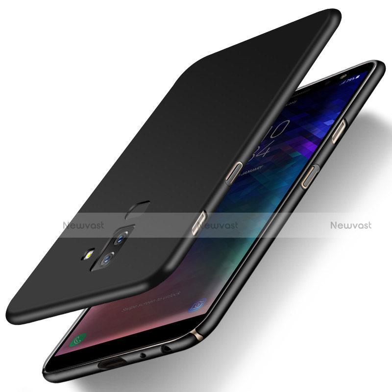 Hard Rigid Plastic Matte Finish Snap On Case M04 for Samsung Galaxy A6 Plus Black