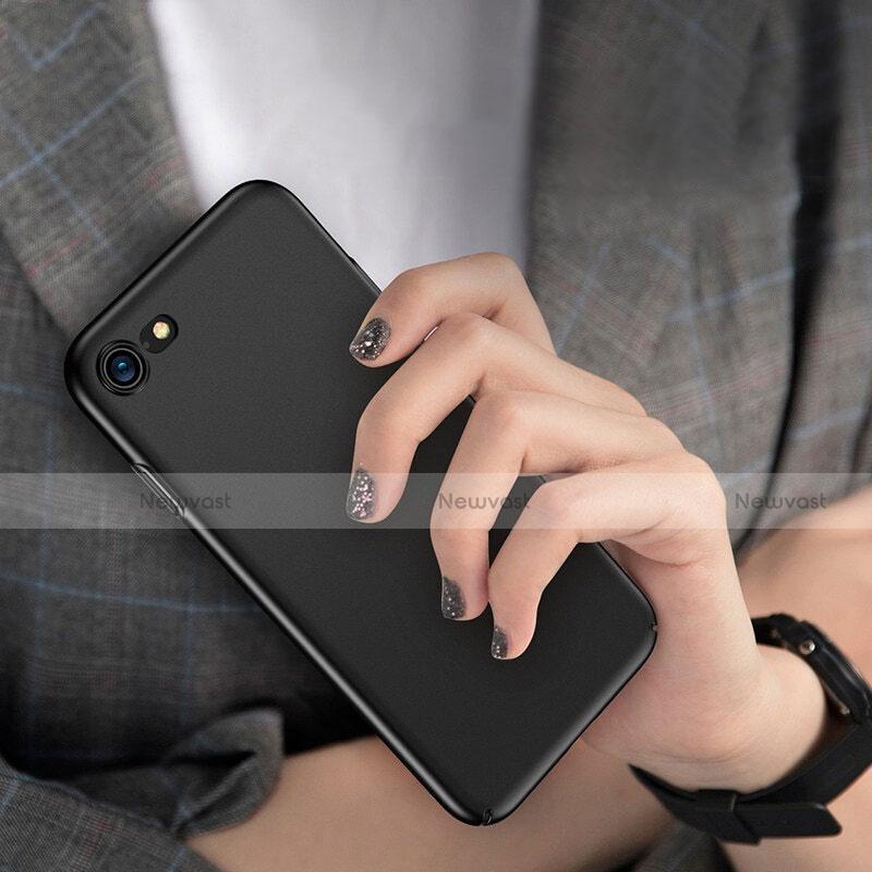 Hard Rigid Plastic Matte Finish Snap On Case M10 for Apple iPhone SE (2020) Black