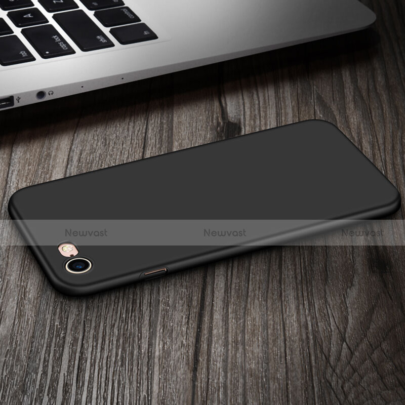 Hard Rigid Plastic Matte Finish Snap On Case with Finger Ring Stand for Apple iPhone SE (2020) Black