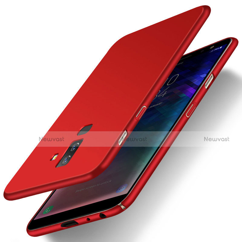 Hard Rigid Plastic Matte Finish Snap On Cover M04 for Samsung Galaxy A9 Star Lite Red