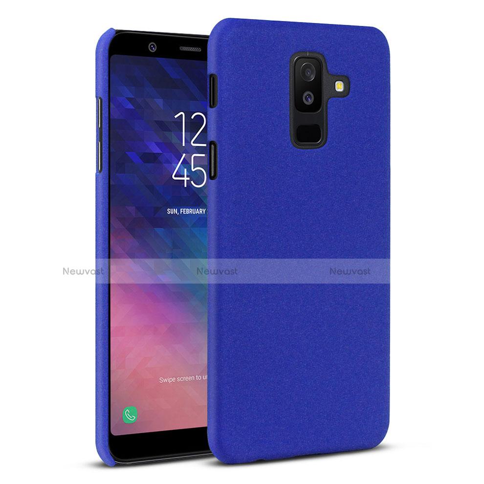 Hard Rigid Plastic Quicksand Cover Case for Samsung Galaxy A6 Plus Blue