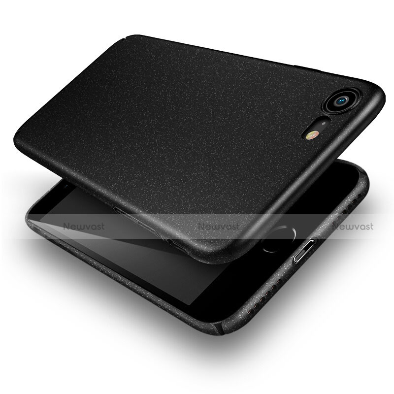 Hard Rigid Plastic Quicksand Cover for Apple iPhone SE (2020) Black