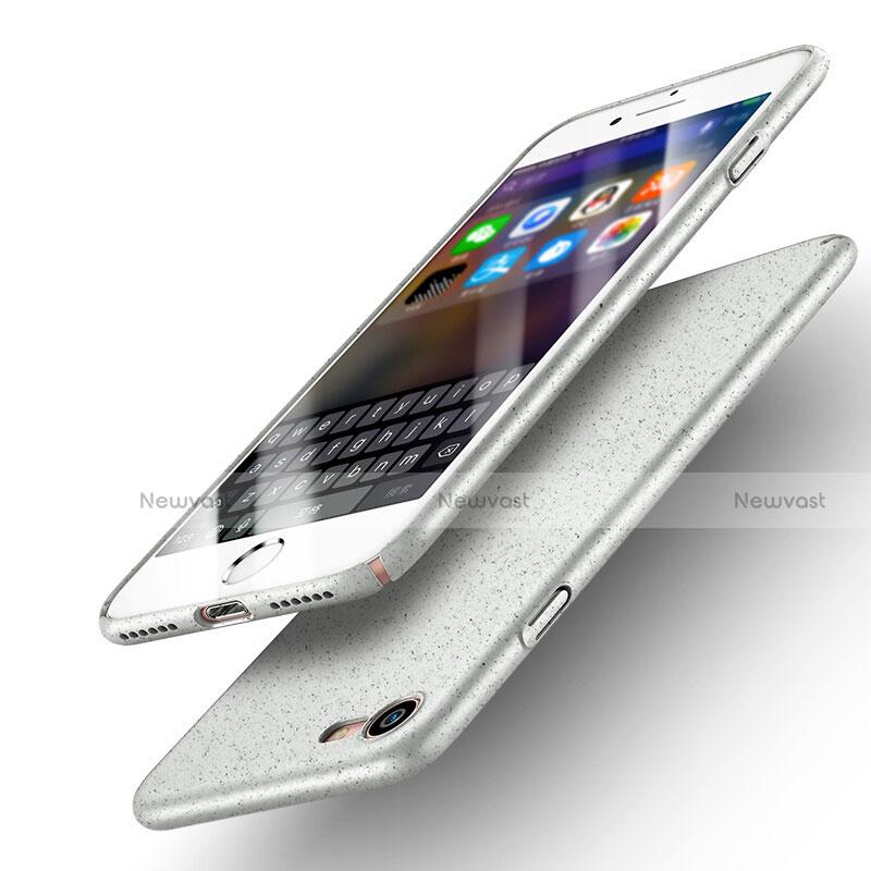 Hard Rigid Plastic Quicksand Cover for Apple iPhone SE (2020) White