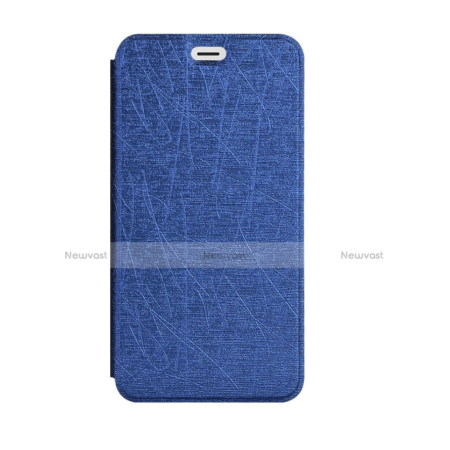 Leather Case Stands Flip Cover for Samsung Galaxy A5 (2018) A530F Blue