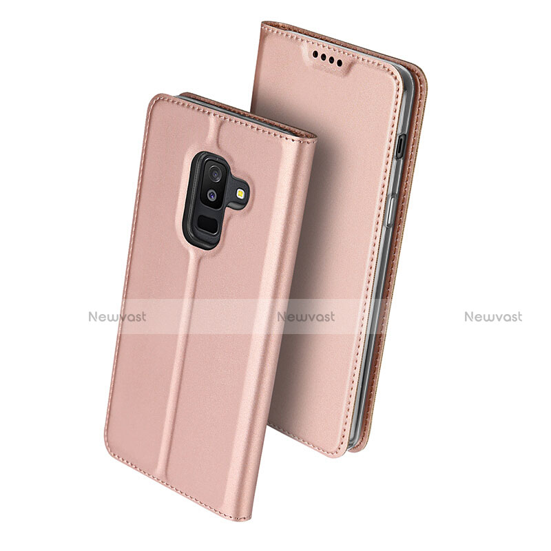 Leather Case Stands Flip Cover for Samsung Galaxy A9 Star Lite Pink