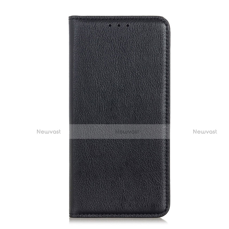 Leather Case Stands Flip Cover Holder for Huawei Y8p Black