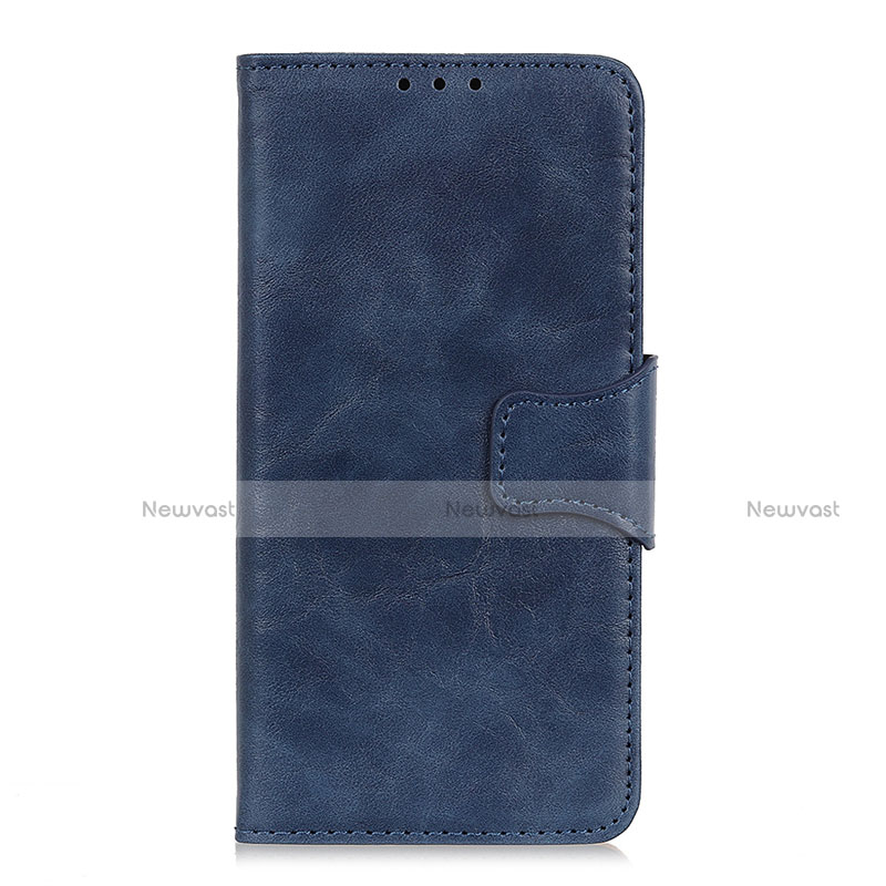 Leather Case Stands Flip Cover Holder for Oppo Reno3 A Blue