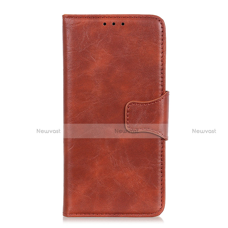 Leather Case Stands Flip Cover Holder for Oppo Reno3 A Brown