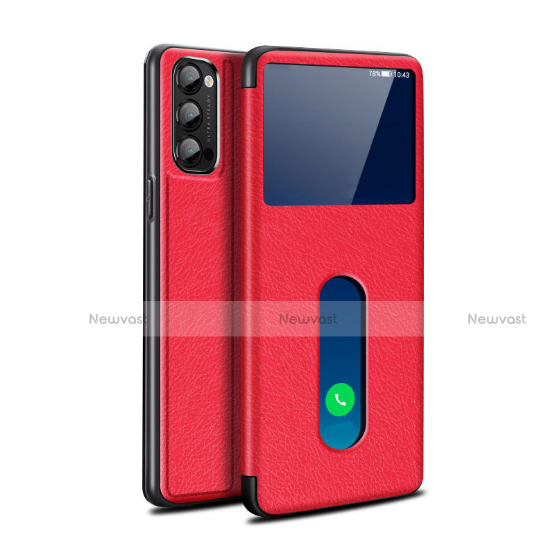 Leather Case Stands Flip Cover Holder for Oppo Reno4 Pro 5G
