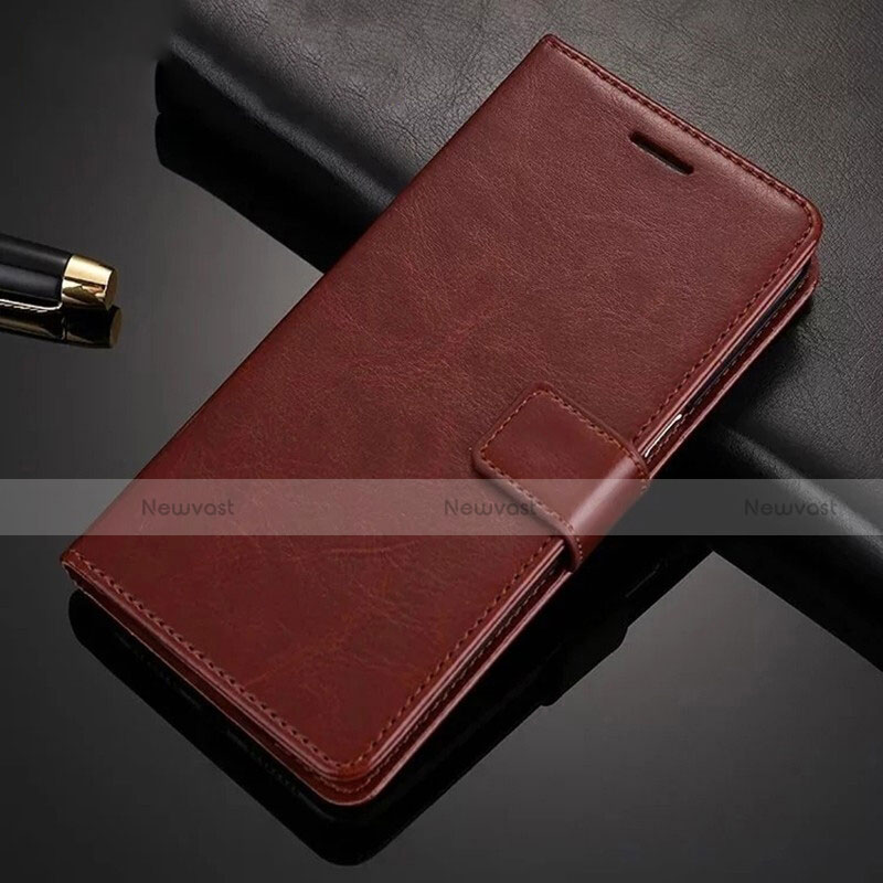 Leather Case Stands Flip Cover Holder for Xiaomi Redmi Note 8 Pro Brown