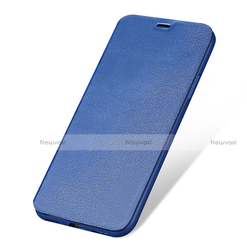Leather Case Stands Flip Cover L01 for Apple iPhone SE (2020) Blue
