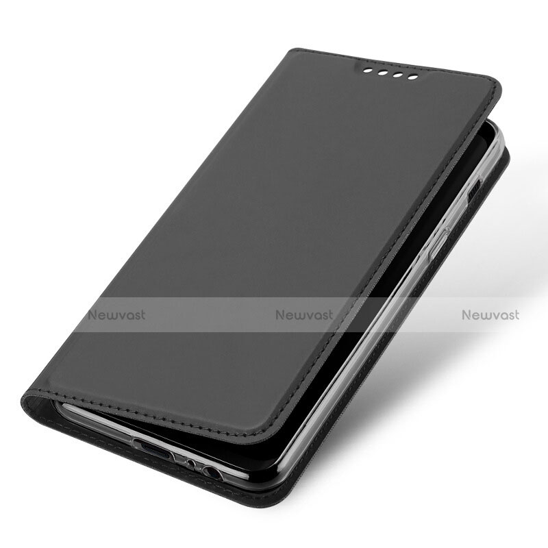 Leather Case Stands Flip Cover L01 for Samsung Galaxy A5 (2018) A530F Black
