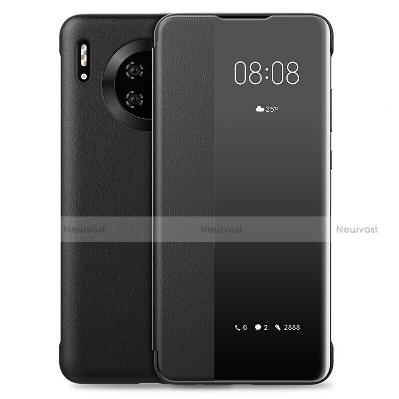 Leather Case Stands Flip Cover L01 Holder for Huawei Mate 30 Pro 5G Black