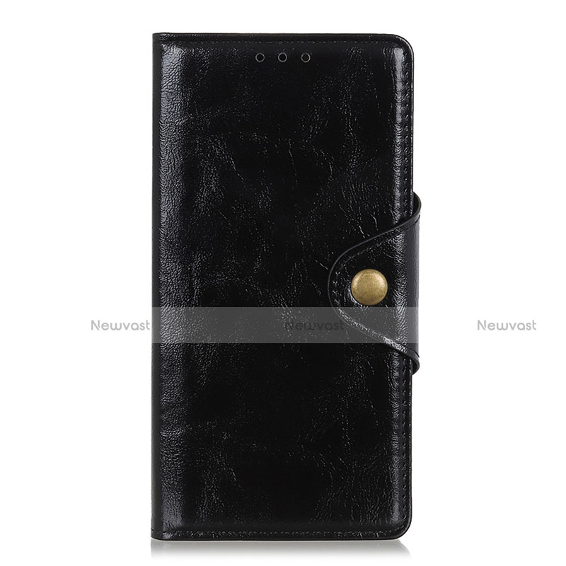 Leather Case Stands Flip Cover L01 Holder for Huawei Y8p Black