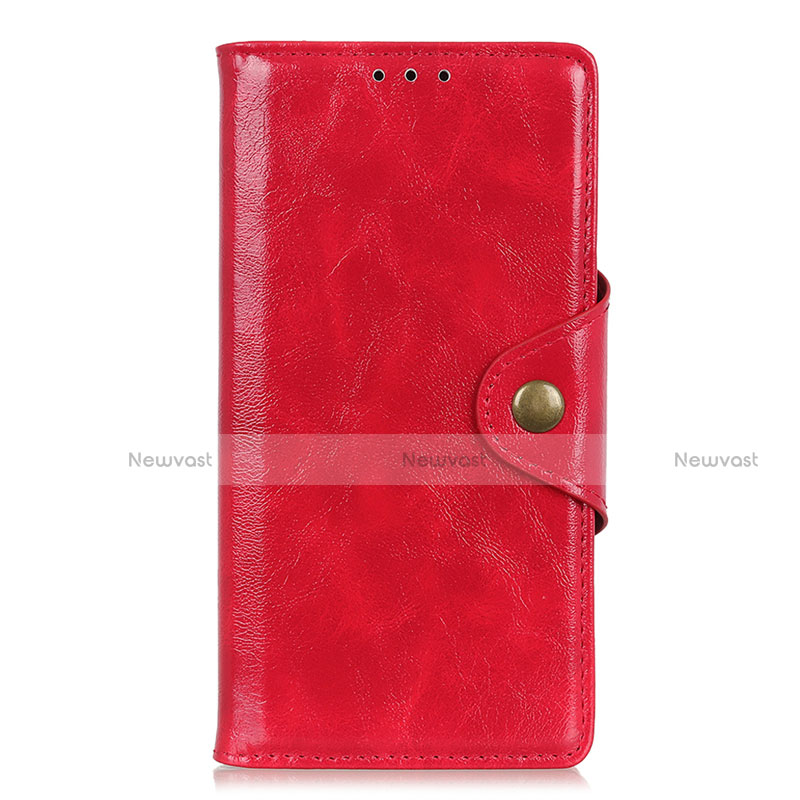 Leather Case Stands Flip Cover L01 Holder for Huawei Y8p Red