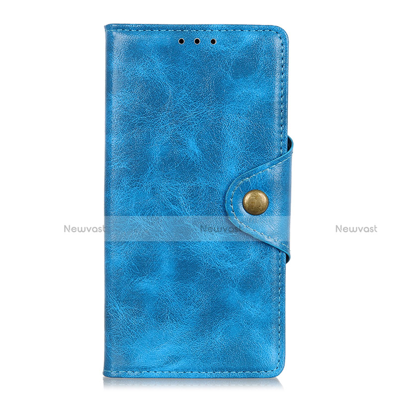 Leather Case Stands Flip Cover L01 Holder for Huawei Y8p Sky Blue