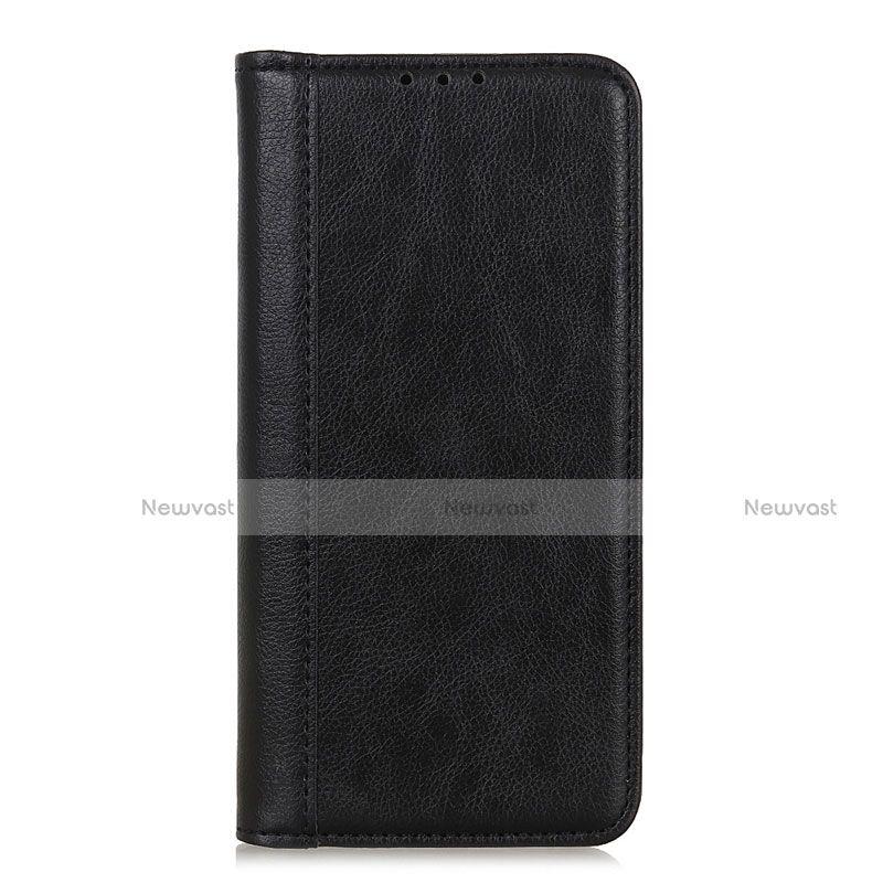 Leather Case Stands Flip Cover L01 Holder for Motorola Moto G9 Plus Black