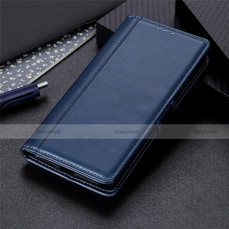 Leather Case Stands Flip Cover L02 Holder for Huawei Enjoy 10S Blue