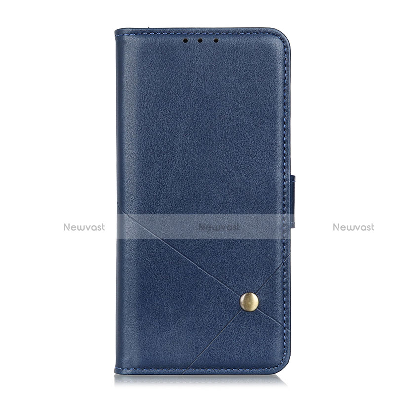 Leather Case Stands Flip Cover L02 Holder for Motorola Moto G9 Plus Blue