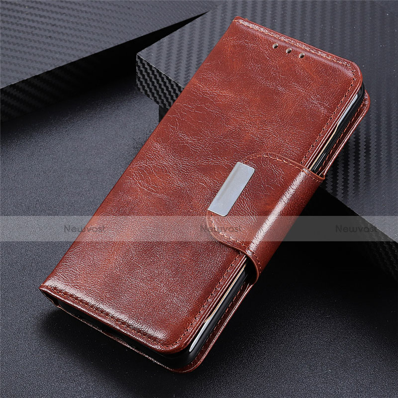 Leather Case Stands Flip Cover L03 Holder for Huawei Enjoy 10S Brown