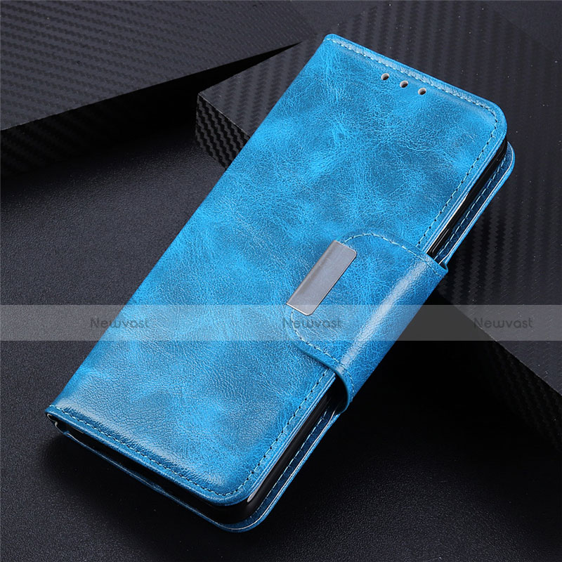 Leather Case Stands Flip Cover L03 Holder for Huawei Enjoy 10S Sky Blue