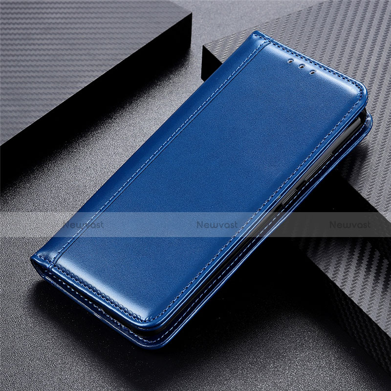 Leather Case Stands Flip Cover L03 Holder for Huawei P Smart (2020) Blue