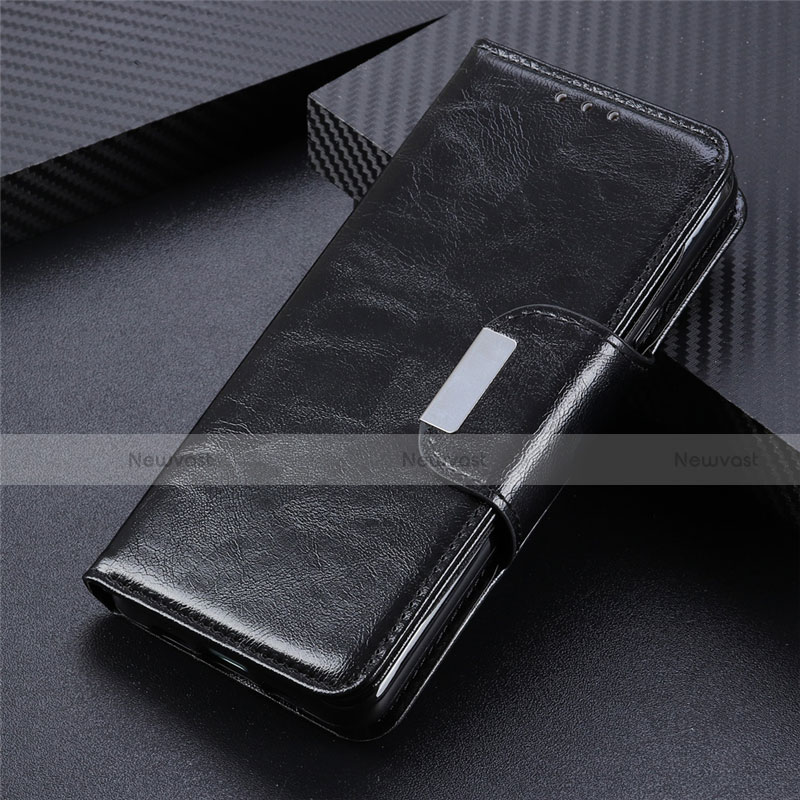 Leather Case Stands Flip Cover L03 Holder for Huawei Y8p Black