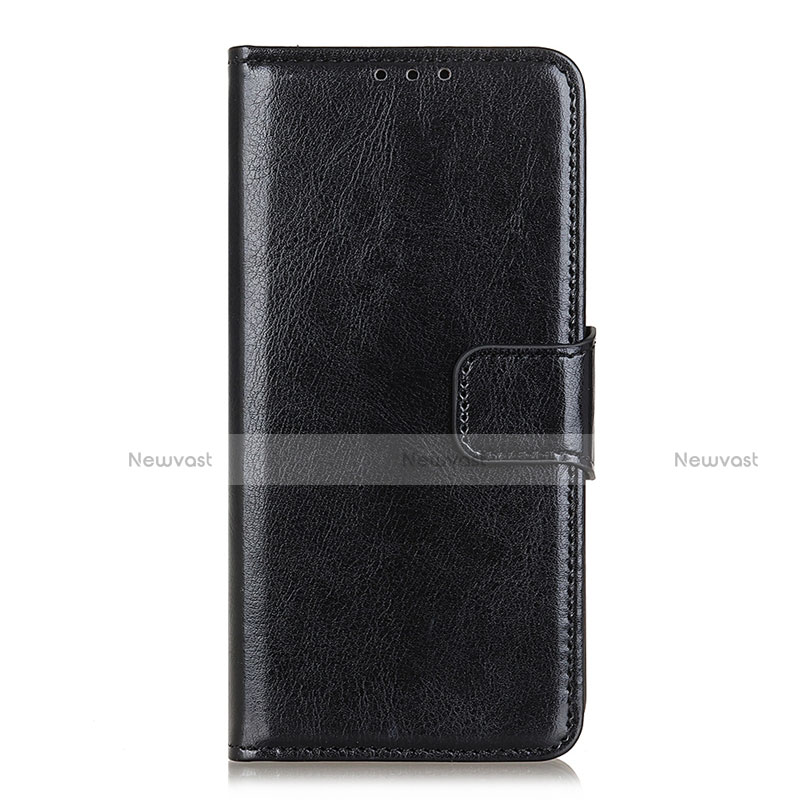Leather Case Stands Flip Cover L04 Holder for Huawei Y8p Black
