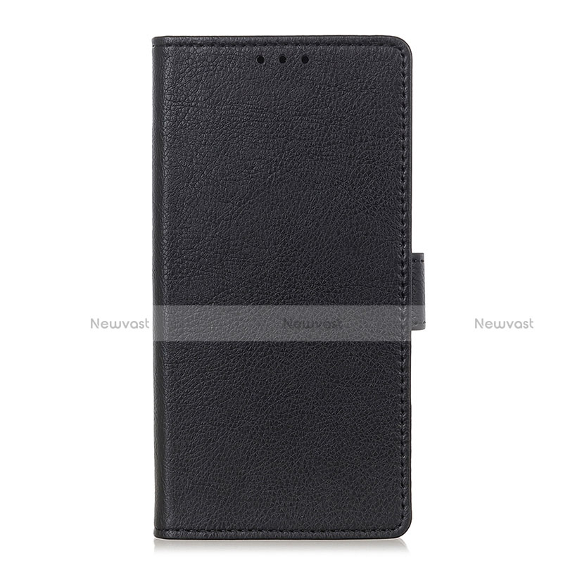 Leather Case Stands Flip Cover L04 Holder for Oppo Reno3 A Black