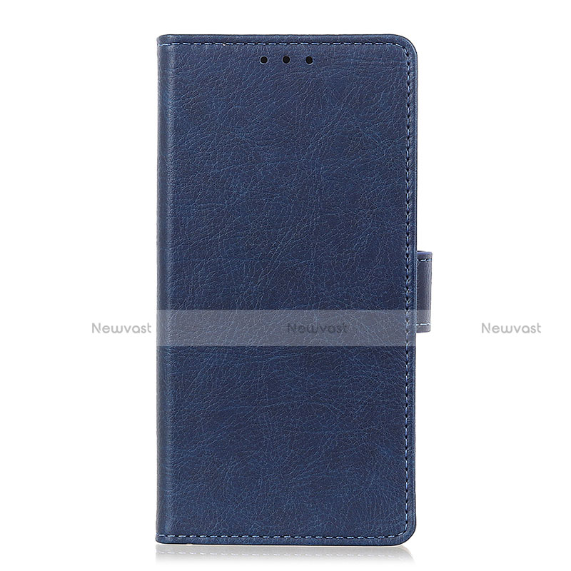 Leather Case Stands Flip Cover L04 Holder for Oppo Reno3 A Blue