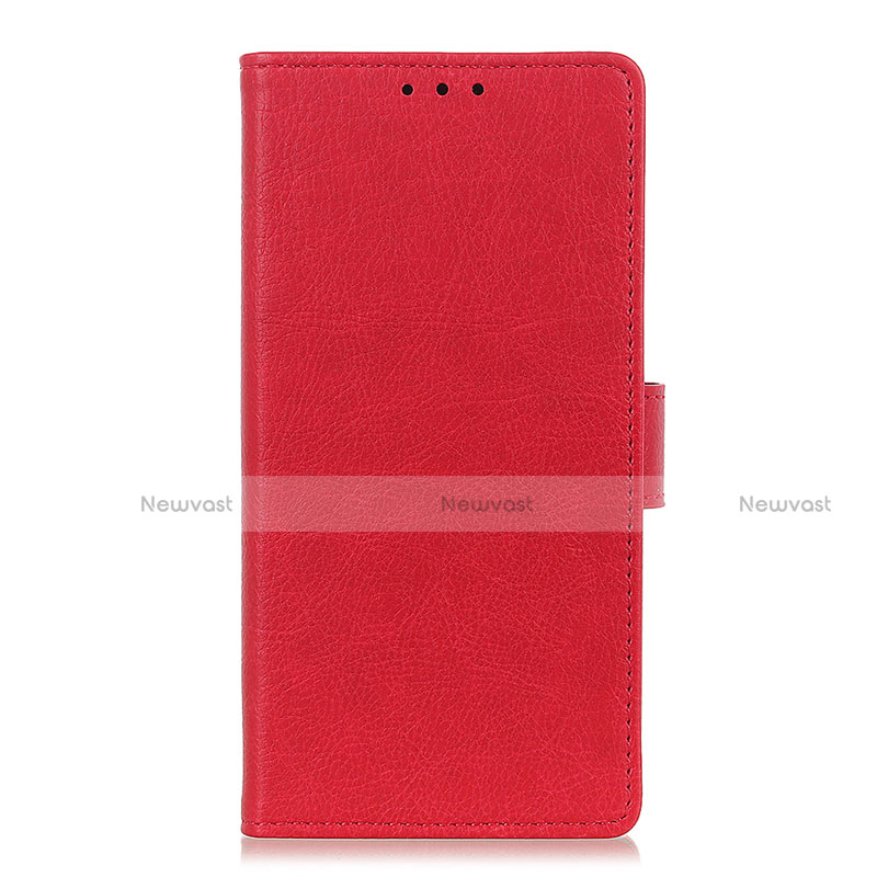 Leather Case Stands Flip Cover L04 Holder for Oppo Reno3 A Red