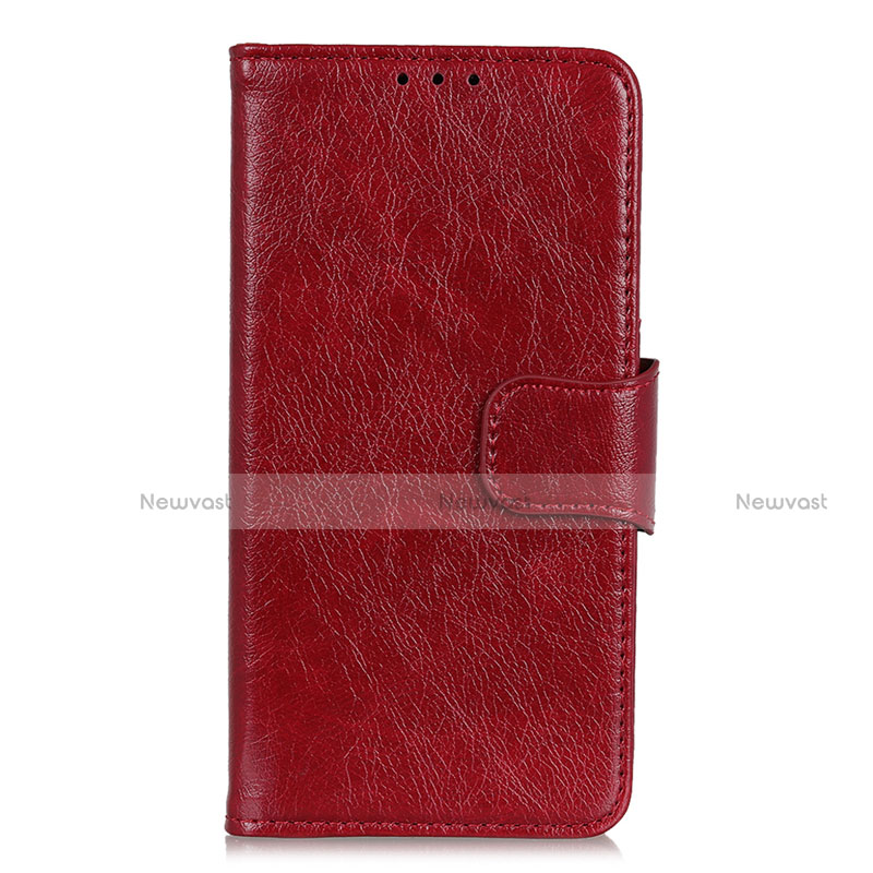 Leather Case Stands Flip Cover L05 Holder for Huawei Enjoy 10S Red