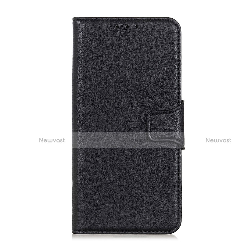 Leather Case Stands Flip Cover L05 Holder for Oppo Reno3 A Black
