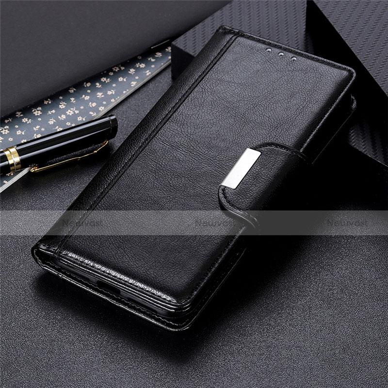 Leather Case Stands Flip Cover L06 Holder for Huawei Enjoy 10S Black