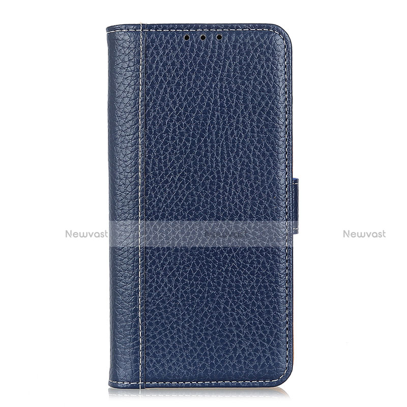 Leather Case Stands Flip Cover L06 Holder for Huawei P Smart (2020) Blue