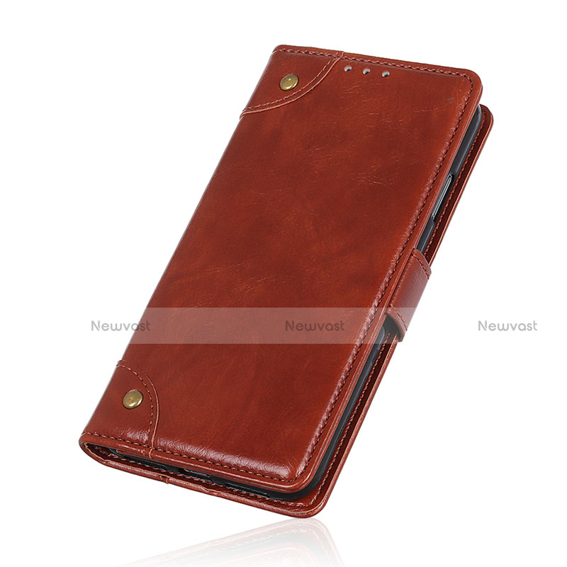 Leather Case Stands Flip Cover L06 Holder for Motorola Moto G9 Plus