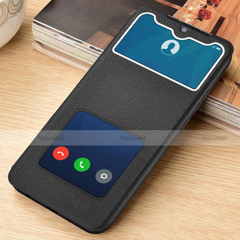 Leather Case Stands Flip Cover L06 Holder for Xiaomi Redmi Note 8 Pro Black