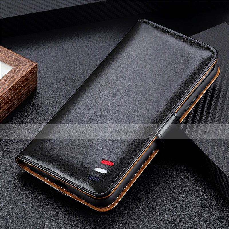Leather Case Stands Flip Cover L07 Holder for Huawei Y8p Black