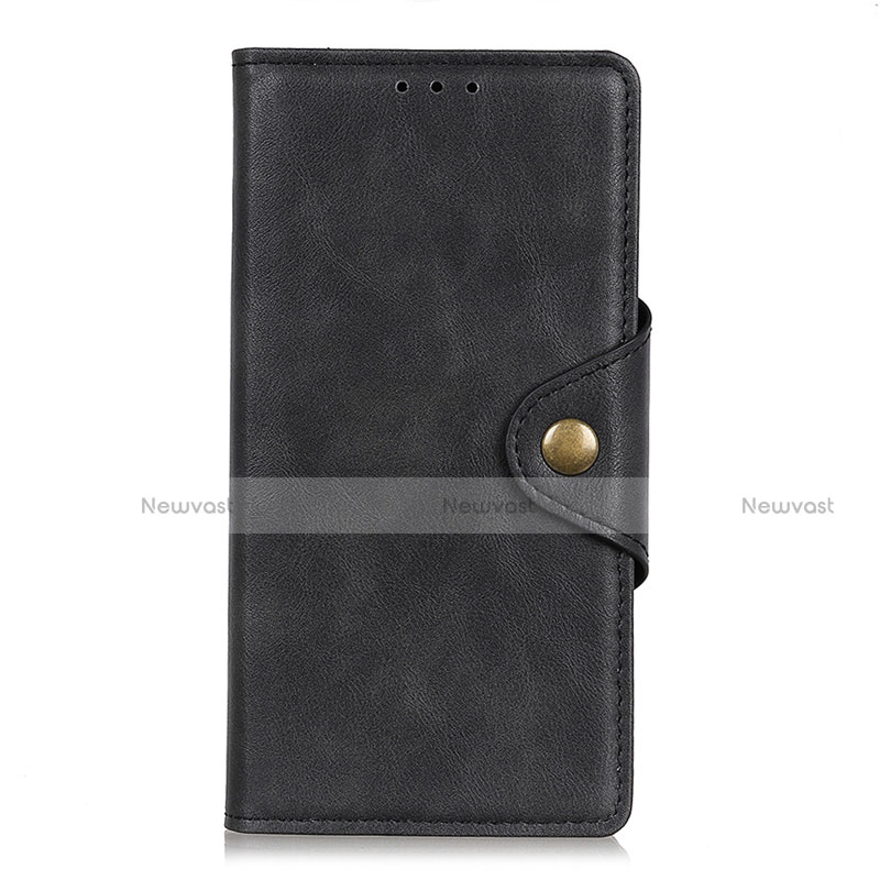 Leather Case Stands Flip Cover L08 Holder for Huawei Enjoy 10S Black