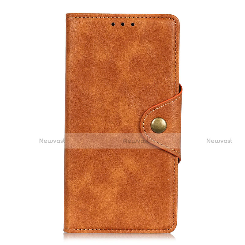 Leather Case Stands Flip Cover L08 Holder for Huawei Enjoy 10S Orange