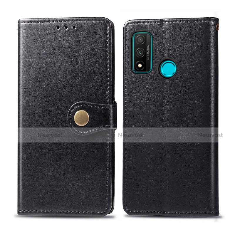 Leather Case Stands Flip Cover L08 Holder for Huawei P Smart (2020) Black