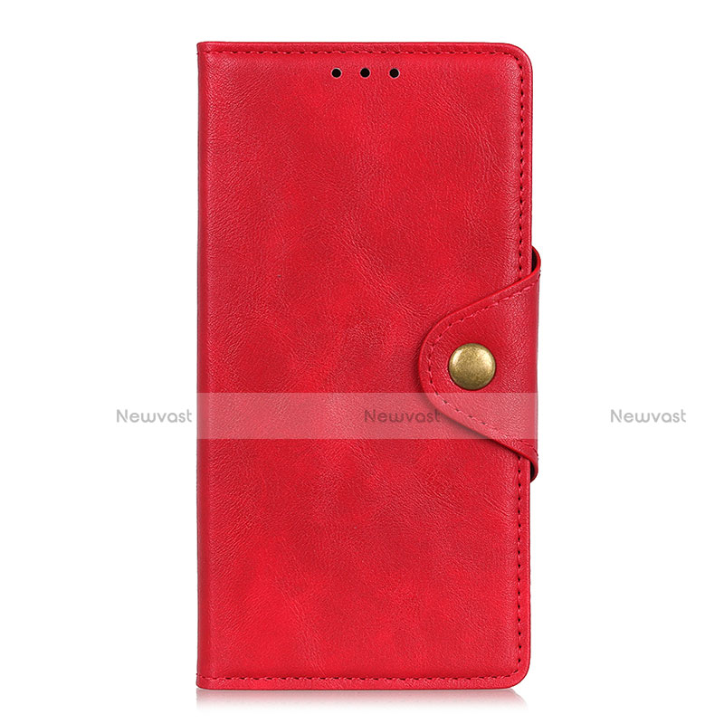 Leather Case Stands Flip Cover L08 Holder for Huawei Y8p Red