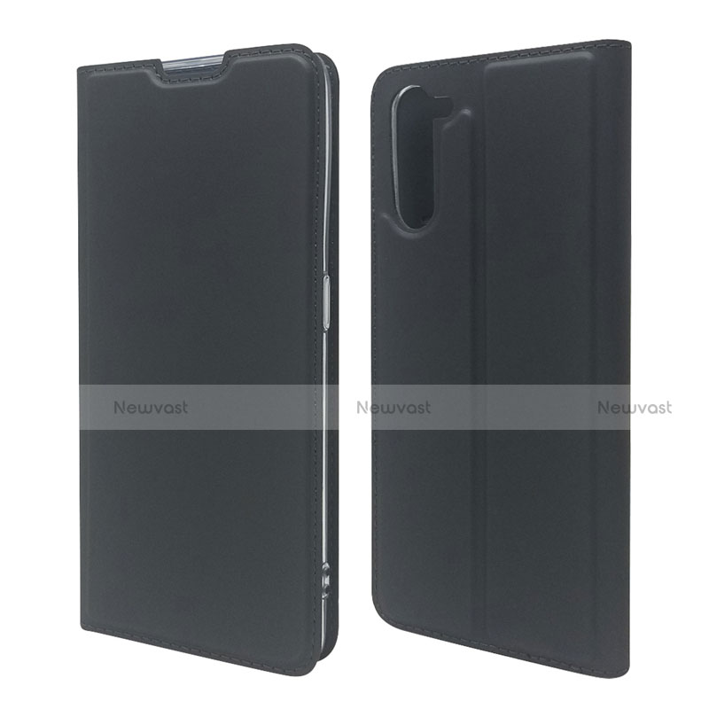 Leather Case Stands Flip Cover L09 Holder for Oppo Reno3 A Black
