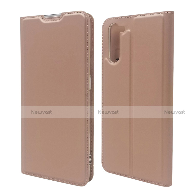 Leather Case Stands Flip Cover L09 Holder for Oppo Reno3 A Rose Gold