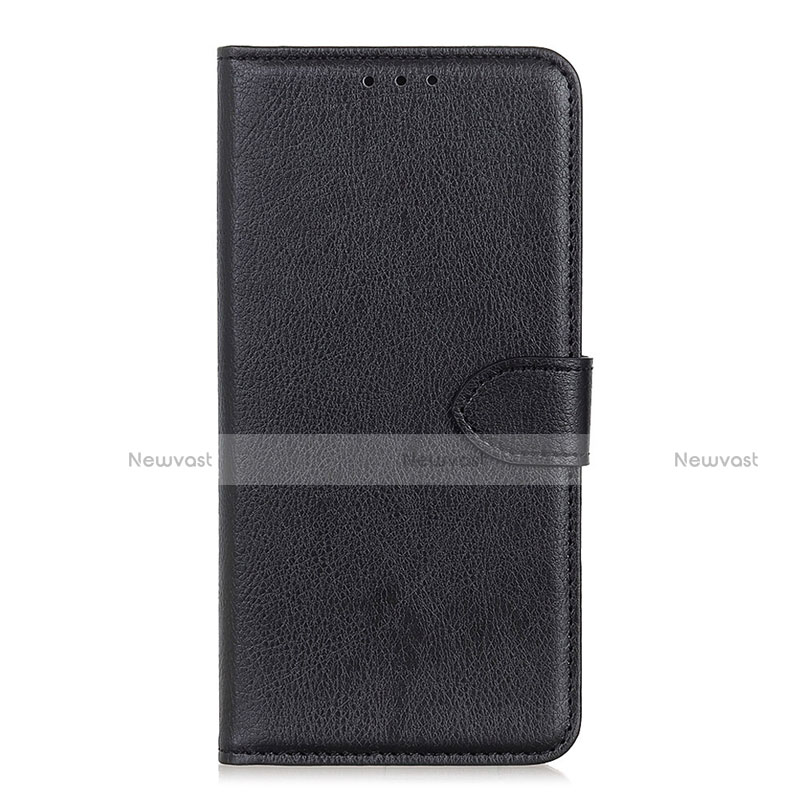 Leather Case Stands Flip Cover L10 Holder for Huawei Y8p Black