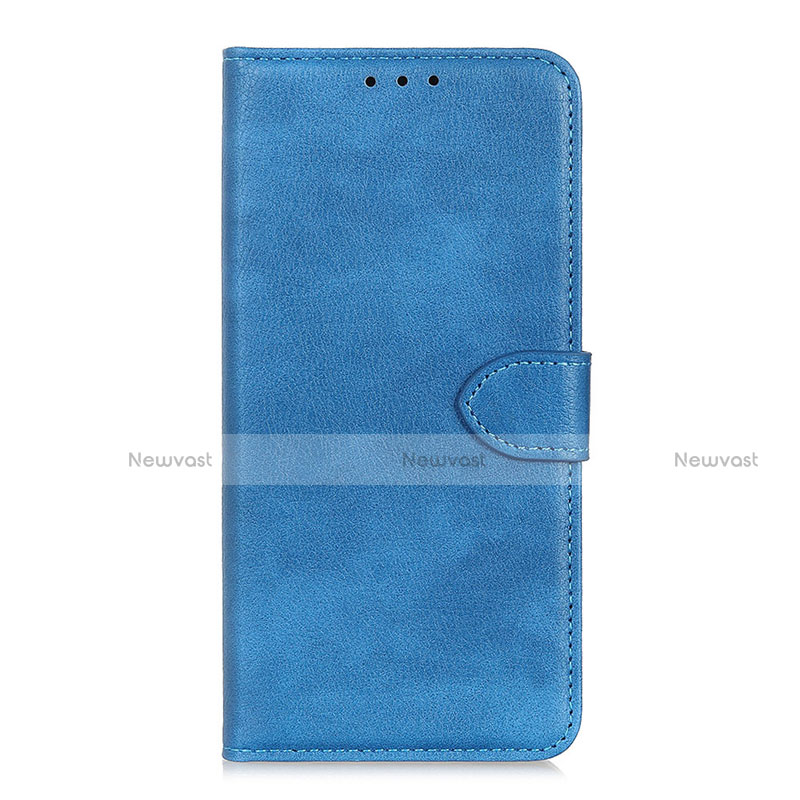 Leather Case Stands Flip Cover L10 Holder for Huawei Y8p Sky Blue
