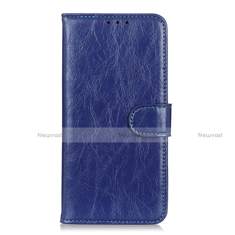 Leather Case Stands Flip Cover L11 Holder for Huawei Enjoy 10S Blue