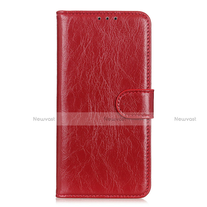 Leather Case Stands Flip Cover L11 Holder for Huawei Enjoy 10S Red