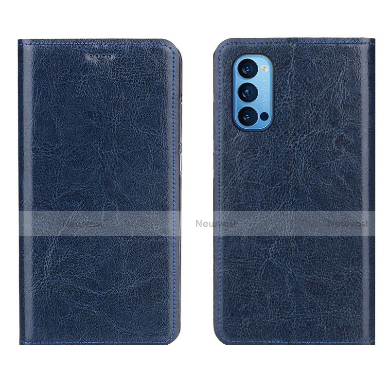 Leather Case Stands Flip Cover T02 Holder for Oppo Reno4 Pro 5G